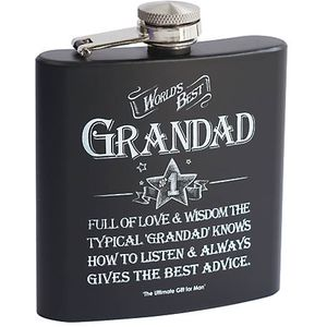 Ultimate Man Gift Hip Flask - Worlds Best Grandad