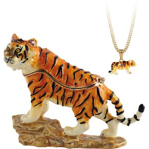 Hidden Treasures Secrets Tiger Trinket Box