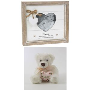 Mum Photo Frame & Teddy Bear Gift Set