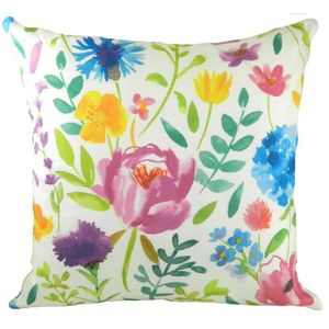 Blooms Spring Garden Cushion Cover 17x17""