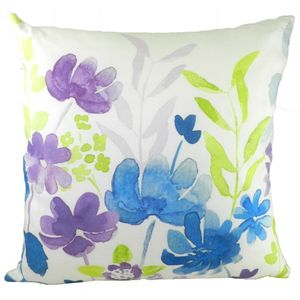 Blooms Abstract Floral Cushion Cover 17x17""