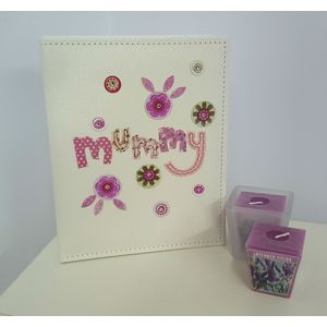 Mum Gift Set: Mummy Photo Album with Candle & Holder