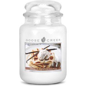 Goose Creek Large Jar Candle - Vanilla Pumpkin Waffle