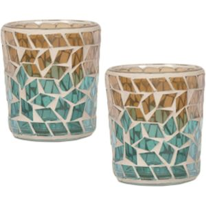 Aroma Votive Candle Holders Set of 2 :Oasis Diamond Design