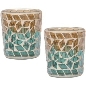 Aroma Votive Candle Holders Set of 2 :Oasis Diamond