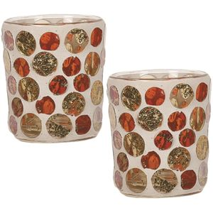 Aroma Votive Candle Holders Set of 2: Golden Circle