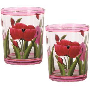 Aromatize Votive Candle Holders Set of 2: Tulips