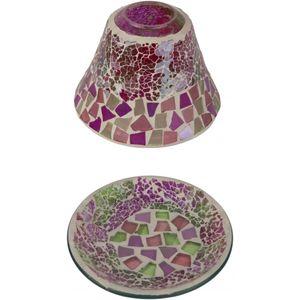 Jar Candle Shade & Plate Gift Set - Celebration