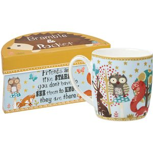 Bramble & Rocket Boxed Mug - Friends are Like Stars