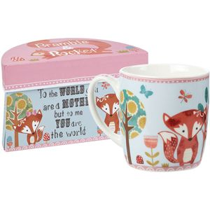 Bramble & Rocket Snooze Mother You are the World Mug