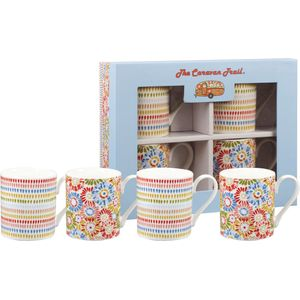 Churchill China 4 Larch Mugs Set - Caravan Harbour