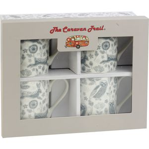 Caravan Larch Forest Set of 4 Mugs Gift Set