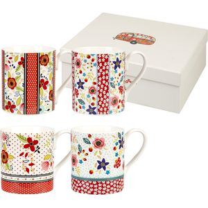 Churchill China 4 Larch Mugs Set - Caravan Beach