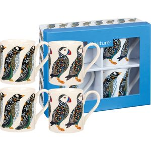 Paradise Birds Larch Puffin and Penguin Set of 4