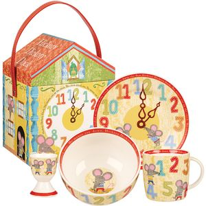 Hickory Dickory Dock 4pc Breakfast Set