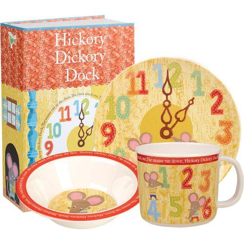 Hickory Dickory Dock 3 pc Melamine Set