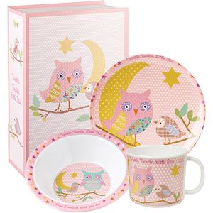 Little Rhymes Melamine Dinner Set - Twinkle Pink