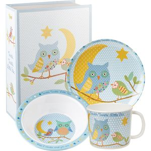Little Rhymes Melamine Dinner Set - Twinkle Blue