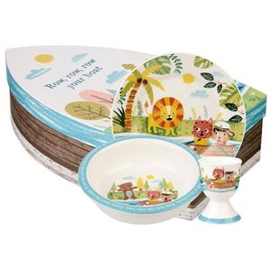 Little Rhymes Ceramic Breakfast Set - Row Your Boat