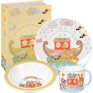 Noahs Ark 3 pc Melamine Set