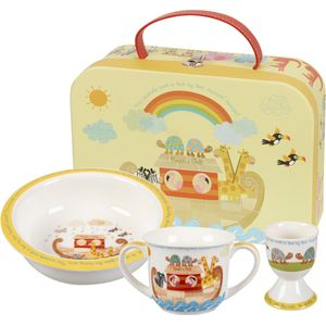 Little Rhymes Porringer Egg Cup & Mug Set - Noahs Ark