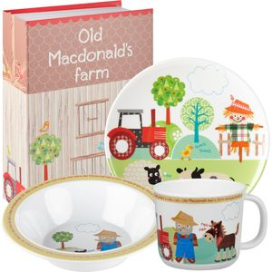 Little Rhymes Melamine Dinner Set - Old Macdonald
