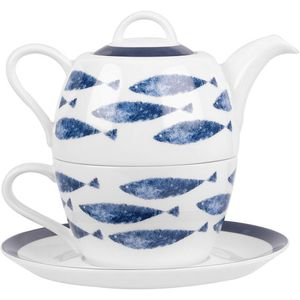 Churchill China Couture Tea for One Set - Sieni Fishi