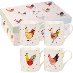 Alex Clark 4 Larch Mugs Set - Rooster