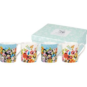 Collier Campbell 4 Larch Mugs Set - Flower