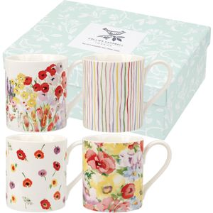 Collier Campbell 4 Larch Mugs Set - Painted Garden