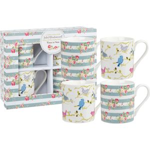 Julie Dodsworth 4 Larch Mugs Set - Time to Nest