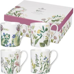 Himalayan Flowers Larch Mug Set