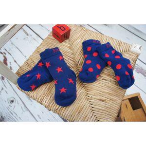 Blade & Rose Navy & Red Star Socks