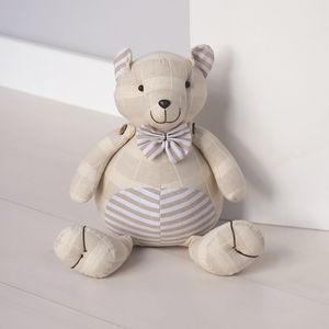 Fabric Doorstop 25cm - Teddy Bear