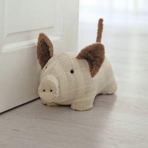 Fabric Doorstop 23cm - Pig