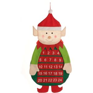 Advent Calendar - Fabric Elf with Numbered Pockets