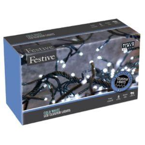 Christmas Lights - Cluster Lights 2000 LED Multi Function (Cold White)