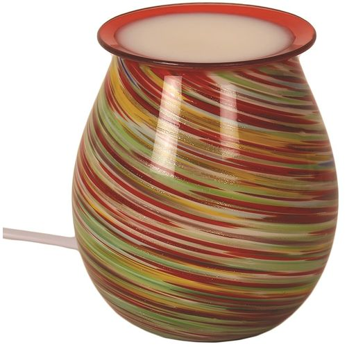 Aromatize Electric Wax Melt Burner: Art Glass Red Multi Swirl