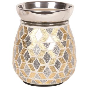 Aroma Electric Wax Melt Burner: Gold Silver Glitter