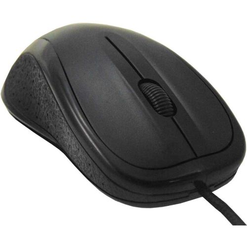 Rugged Optical Computer Mouse USB Black Braided Cable