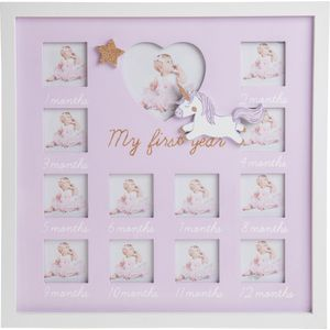 Unicorn My First Year Multi Photo Frame