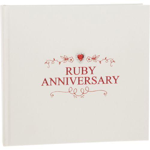 "Shudehill Giftware Ruby Anniversary Photo Album Holds 50 4"" x 6"" photos"
