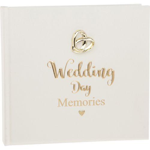 "Shudehill Giftware Bands of Gold Wedding Photo Album Holds 50 4"" x 6"" Photographs"