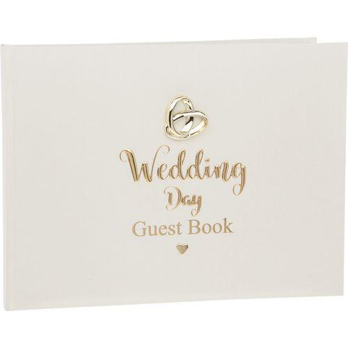 Shudehill Giftware Bands of Gold Wedding Guest Book