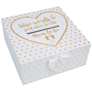 Baby Shower Keepsake Box - Wise Words for the Mum to Be