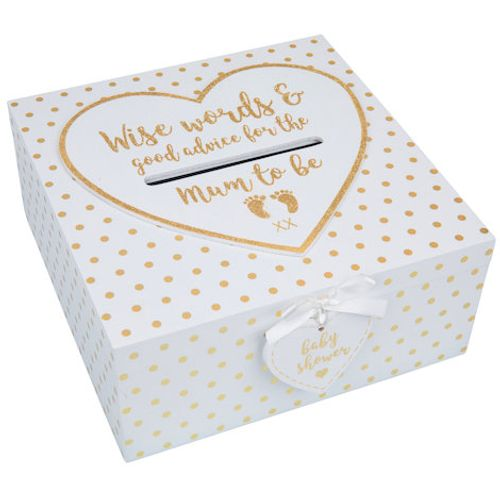 Baby Shower Box - Wise Words & Good Advice for the Mum to Be Keepsake Box White