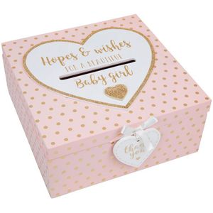Baby Shower Keepsake Box - Hopes & Wishes Beautiful Baby Girl