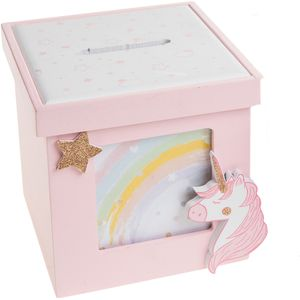 Unicorn Lullaby Photo Money Box (Pink)
