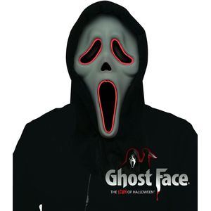 Ghostface Scream Mask - EL Light Up Mask