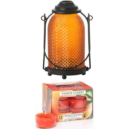 Yankee Candle Lantern Candle Holder - with Orange Splash Tealights
